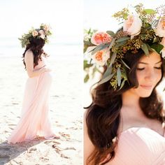 This beach maternity shoot is gorgeous.