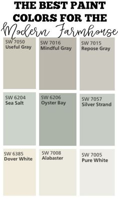 to farmhouse style. The best paint colors for the modern farmhouse. Classic colors for cozy, warm look in any home.Transitioning to farmhouse style. The best paint colors for the modern farmhouse. Classic colors for cozy, warm look in any home. Mindful Gray, Best Paint Colors, Interior Paint Colors, Paint Colors For Home, Paint Colours, Fixer Upper Paint Colors, Entryway Paint Colors, Room Interior, Office Wall Colors