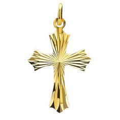 Croix Or, Medaille Bapteme, Pendentif Croix, Collection De Bijoux,  Diamants, Vierge 011e890476a6