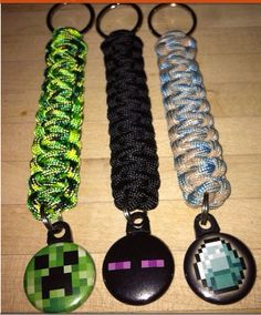 MINECRAFT Zipper Backpack Pulls / Key by ParacordTeamProducts, $6.00