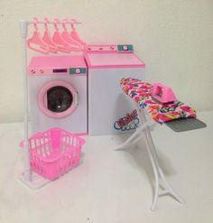 barbie size dollhouse furniture laundry room with iron ironing table amazoncom barbie size dollhouse
