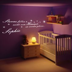 Dekorieren Sie Ihre Wände mit dem Wandtattoo Sterne fallen nicht vom Himmel... - Qualitätsfolie - 53+ Farben - Top Preise - Schnell & Sicher
