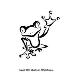 Cute Frog Tattoo Design Simple Logo Esque Art Picture Tattoowoo Design 500x500 Pixel
