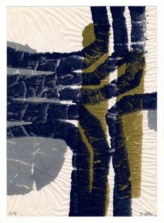 """Raoul Ubac - EMPREINTE"""", 1967, Monotype  Dimension de l'image 0,0 x 0,0 cm / 0.0 x 0.0 in  Dimension du Papier 38,0 x 28,0 cm / 15.0 x 11.0 i!"""