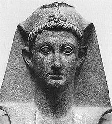 Emperor Augustus portrayed as an Egyptian pharaoh