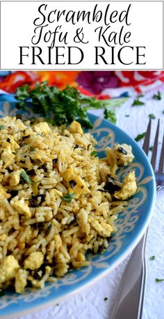 A quick vegetarian fried rice with scrambled tofu, kale, and a little spice kick. Great for a weeknight dinner or an easy workday lunch! Scrambled Tofu and Kale Fried Rice has to be on of the easiest dishes I've made…