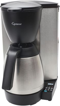 671ba26ba6f Capresso 485.05 MT600 Plus 10-Cup Programmable Coffee Maker with Thermal  Carafe