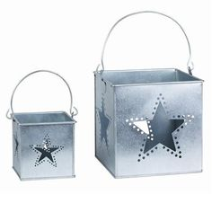 Large and Small Star Candleholders - Promotion ends at 6.30am Saturday 10th November