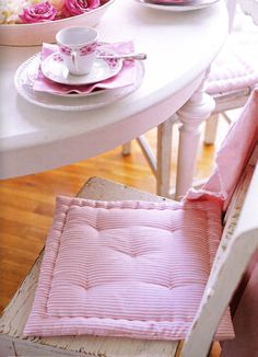inspiration for DIY chair cushion