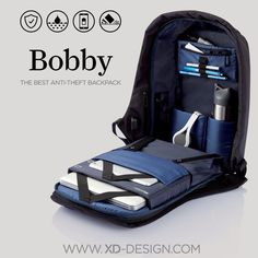 Every day 400.000 pick pocket incidents occur worldwide. Never worry about this happening to you with the Bobby Anti-Theft backpack. Key features as cut-proof material, hidden zipper closures and secret pockets will keep your belongings safe during your commutes.     https://www.kickstarter.com/projects/257670560/bobby-the-best-anti-theft-backpack-by-xd-design - bag ladies online, leather purse bag, suede bag *ad