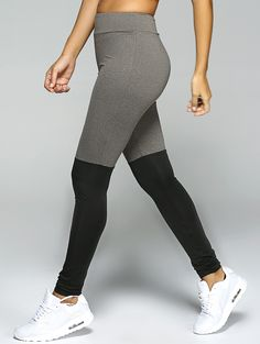 Stretchy Sport Leggings - Black And Grey S. Activewear For Women Trendy  Fashion ...