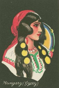 HUNGARY (GYPSY) _ Cigarette cards from the collection entitled Girls of many lands.    Source: NYPL Digital Archives