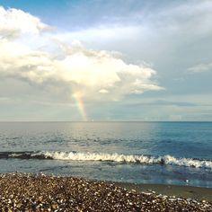 #rainbow #beach