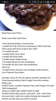 Steak Recipes, Sauce Recipes, Cooking Recipes, Indonesian Food Traditional, Food N, Food And Drink, Western Food, Homemade Spices, Tasty