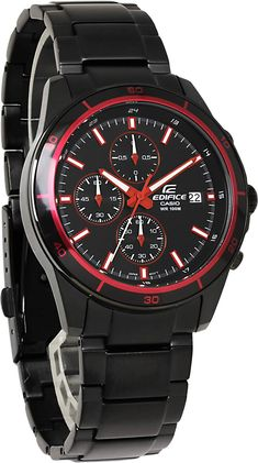HAPIAN: Casio edifice watches mens CASIO EDIFICE chronograph luminous calendar overseas model discount black red gift gift brand analog watch popular WATCH tokei no udedokei Cool Watches, Watches For Men, Red Watches, Engraved Jewelry Box, Red Color Combinations, Casio Edifice, Future Clothes, Popular Watches, Casio Watch