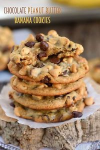 Chocolate Peanut Butter Banana Cookies | eBay