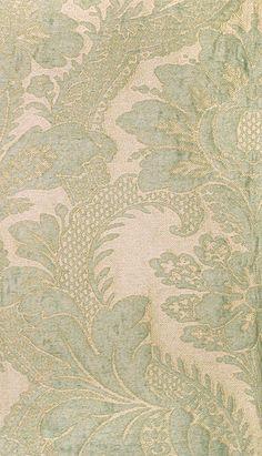 Colony Gran Siecle aqua brocatelle. Wool, silk & linen - Scalamandre