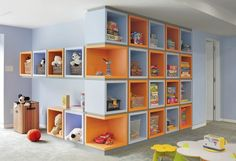 Creative storage wall makes organizing fun