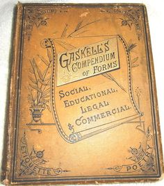 Antique Victorian manners etiquette decorum penmanship business speaking book