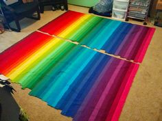 Lets Quilt Something: Rainbow Bargello - Jelly Roll Kona Roll Up Classic