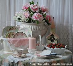 pink shabby chic things | ... gorgeous tablescape with such beautiful things and precious memories
