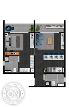 Life is on Small House Floor Plans, Home Design Floor Plans, Bedroom Floor Plans, Architectural Design House Plans, Modern House Plans, Small Apartment Interior, Apartment Layout, Apartment Plans, Small House Layout