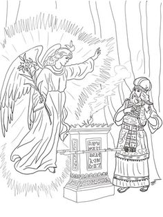 Angel Visits Zechariah Coloring Page From John The Baptist Category Select 20946 Printable Crafts