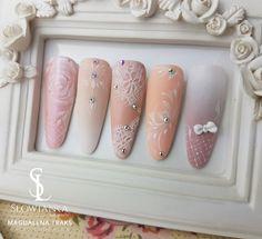 Zdobienia ślubne mat i błysk. #paznokcie #nails #szkolenia #manicure #paznokcieślubne #ombre #babyboomer #szkolenia #kursy #koszalin #magdalenatraks #slowianka.