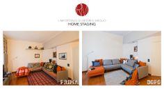 #AbitareIlMeglio. Il tuo soggiorno diventa irresistibile con l' #HomeStaging: un mix di colori e luci. Il locale è lo stesso, ma guardate la differenza! http://www.rossomattone.eu/Home_Staging-p25.html