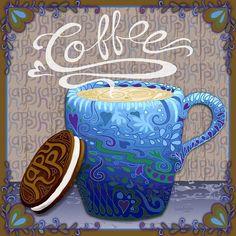 Happy Coffee by Sharon Marcella Marston