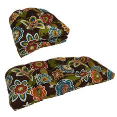 Blazing Needles U-shaped Tufted Outdoor Settee Cushions (Set of 3)
