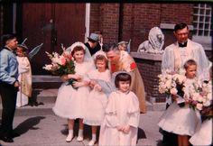 Little Girls With Priests 1st Holy Communion Dresses 1959 Vintage Color Slide  | eBay
