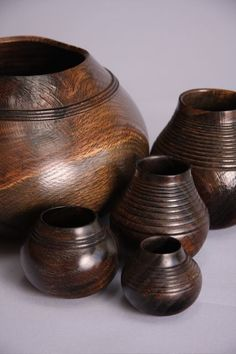 Ebonized pots. I knew before looking at the name that this was richard raffan