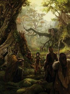 The Children of the Forest and the First Men forming the Pact, ~ by Magali Villeneuve for The World of Ice and Fire.
