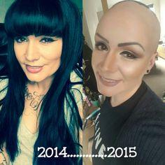 Other than having gone bald in a year..... started to wear eye shadow again #illamasqua