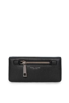 Plånbok Gotham Leather Open Face BLACK/SILVER - Marc Jacobs - Designers  - Raglady