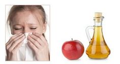 Apple cider vinegar seasonal allergy remedy - hubby does this using local raw honey. He says it definitely helps.