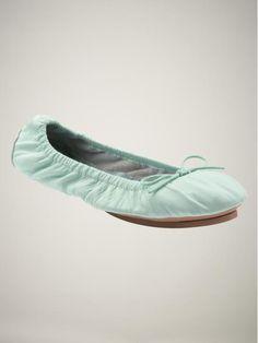 Mint ballet flats
