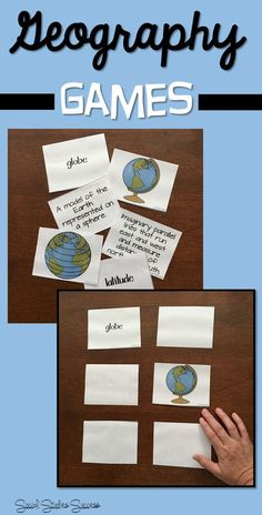 Use games for vocabulary instruction.  This set of geography terms is ready for you to use in your elementary social studies class!