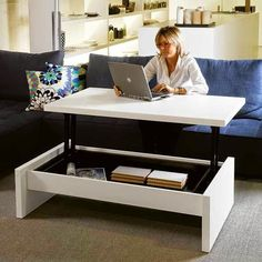 Furniture: Seattle Modular Coffee Table http://www.delamaison.fr/table-basse-rectangulaire-seattle-laque-blanc-p-26731.html