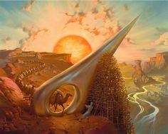 Eye of The Needle (Surrealistic Paintings by Vladimir Kush)