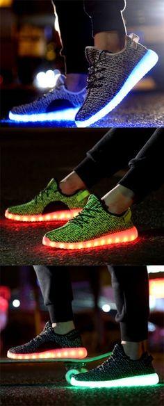 Shoespie Multi Color Luminous Outsole Men's Sneakers