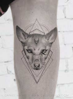 Pharaoh dog portrait on Adam Lambert by Daniel Meyer via LEITBILD Los Angeles booking requests: dasleitbild.com/contact #pharaoh #dogportrait #adamlambert #dotwork #losangeles