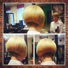"""Fringe is a bit severe on this one... - (""""short chin length aline bob with short nape undercut"""")"""