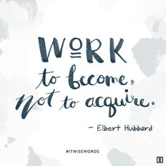 Become great. #ITwisewords #wisewords #inspiration #quote #ElbertHubbard