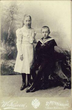 Princess Tatiana Konstantinovna and her younger brother Prince Konstantin Konstantinovich