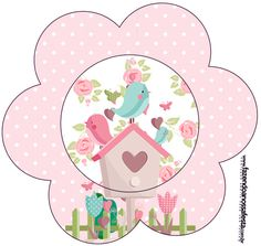 Diy And Crafts, Paper Crafts, Baby Posters, Bird Party, Bird Theme, Owl Bird, Circle Shape, Print And Cut, Party Time