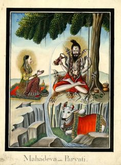 Mahadeva and Parvati