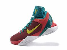 newest 30028 f42c5 Nike Zoom Kobe 7 Shoes Year of the Dragon Action Red Electrolime Team Red  Lush Teal 488369 600