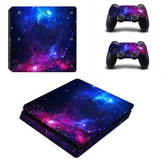 Decal Moments PS4 Slim Console Skin Set Vinyl Decal Stick...